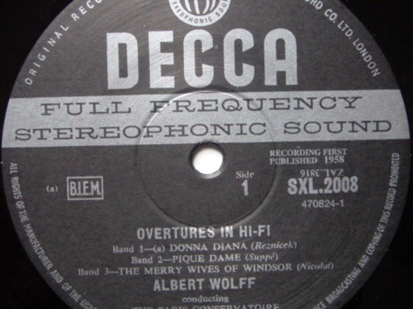 ★Audiophile 180g★ DECCA-Speakers Corner / WOLFF, - Overtures in Hi-Fi, MINT(OOP)!