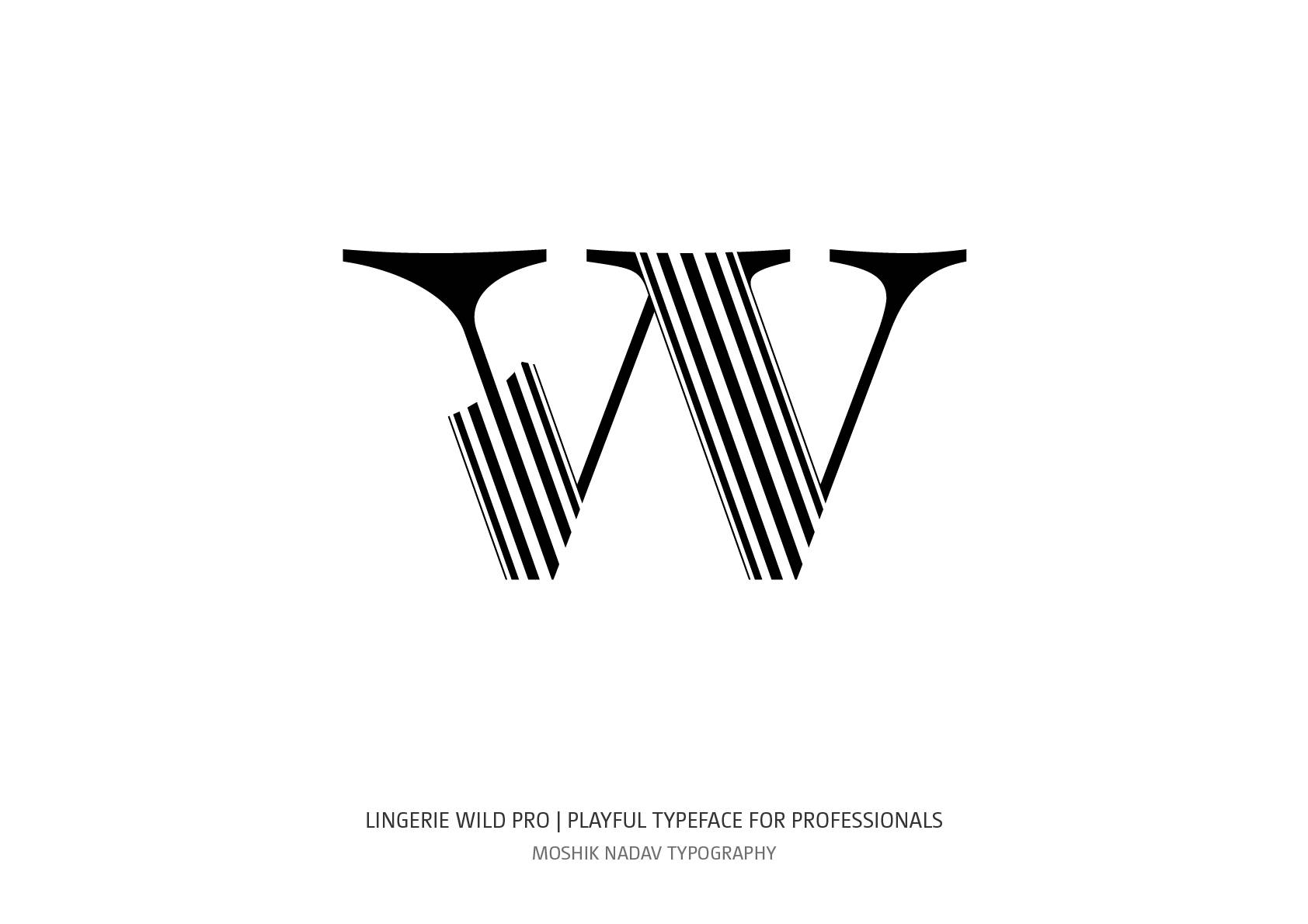 Lingerie Wild Pro Typeface lowercase w for fashion and luxury branding