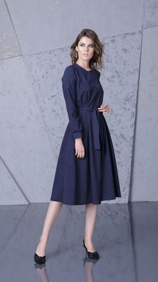 Платье темно-синее Bonali 4085-0564