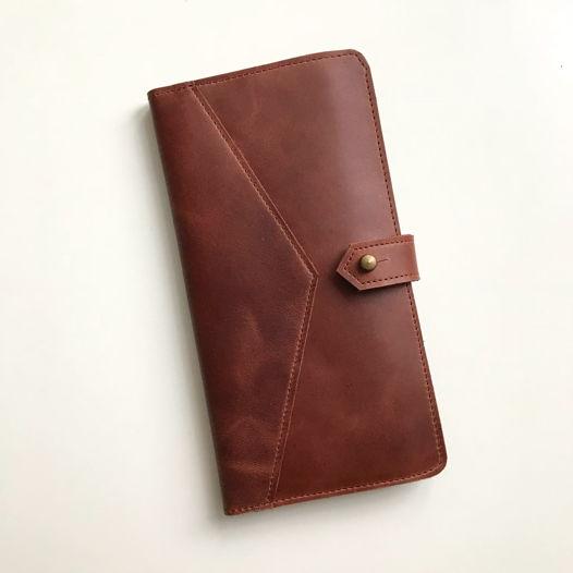 Кожаный кошелек-портмоне Hazelnut