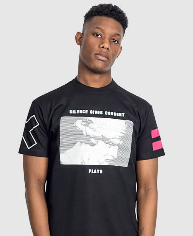 political slogan t-shirts silence is consent