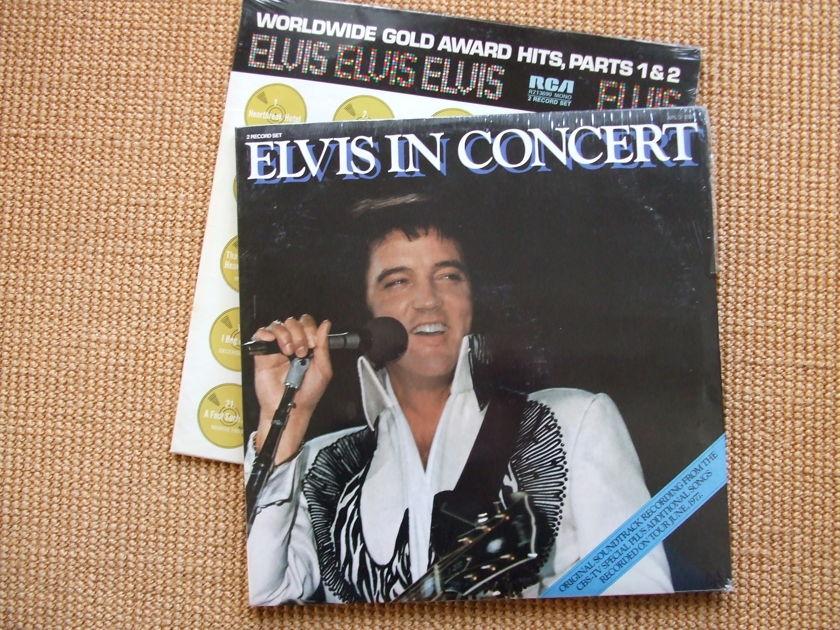 Elvis Presley - 2 Sealed LP's Elvis in Concert & Gold Awards