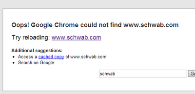 This was what could be found of Schwab's website in the wake of the attack.
