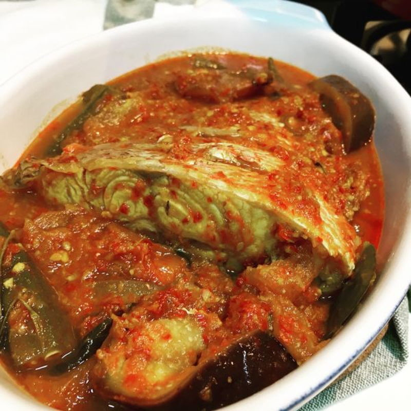 Awesome recipe by Nyonya Cooking! Rempah smells so good and Asam pedas fish taste
