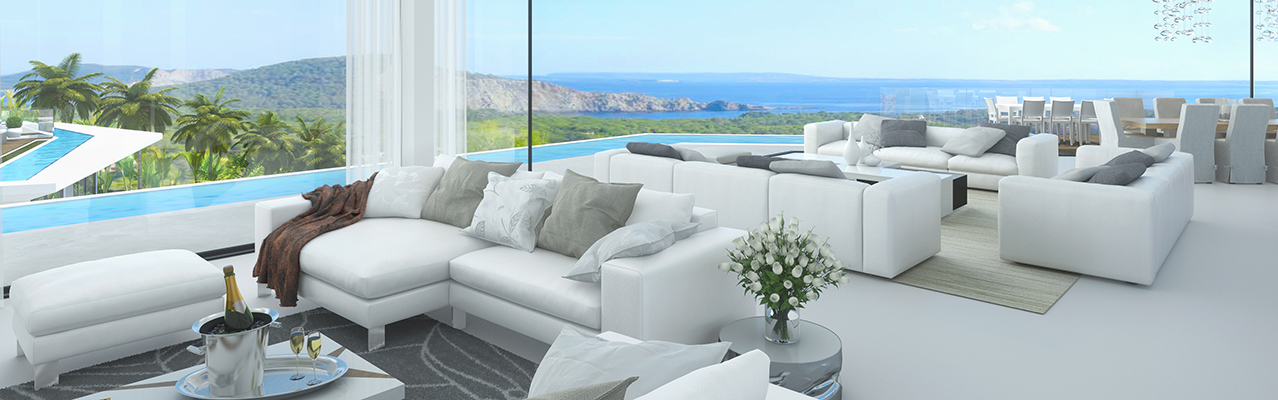 Ibiza - Views from the luxurious villa under construction in top location