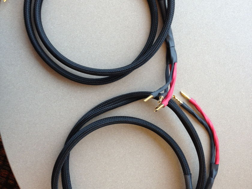 Signal Cable 6ft. Ultra Speaker Cables Bi-Wired w/ Bananas
