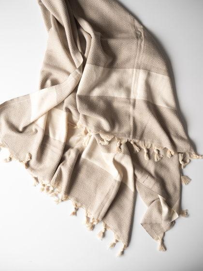 Полотенце из хлопка Jacquard Biege