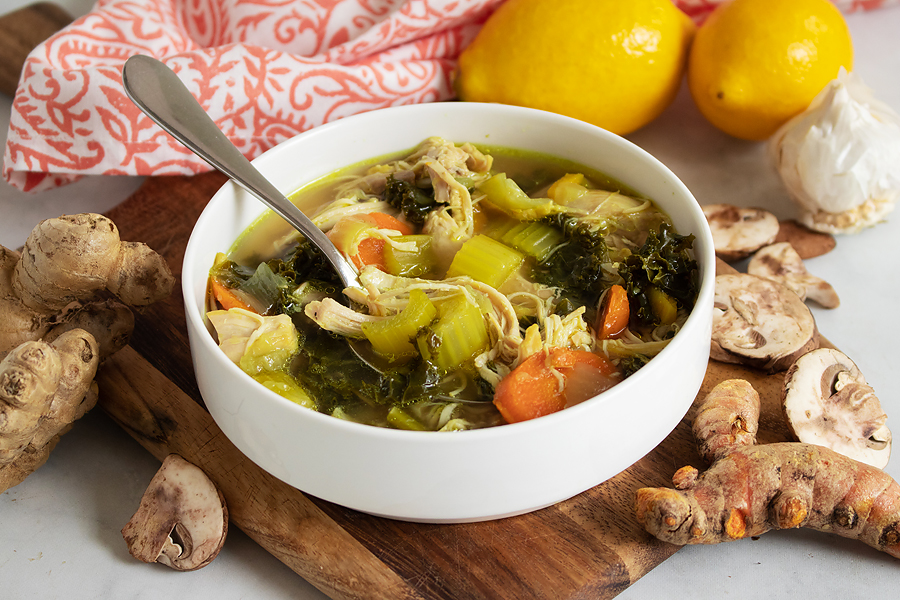 Detox Chicken Soup in Instant pot