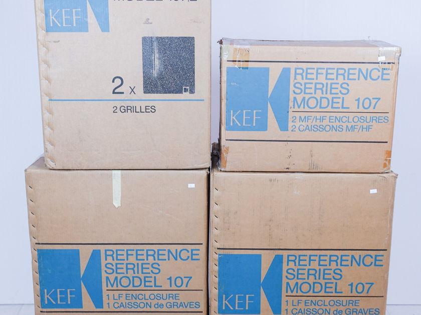 KEF  Model 107  Speakers; Pair; Factory Packaging