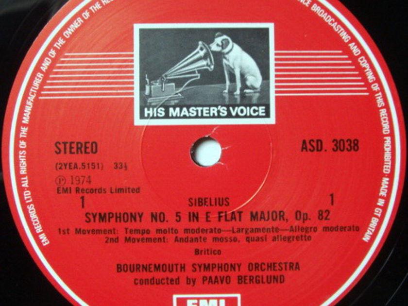 EMI ASD STAMP-DOG / BERGLUND, - Sibelius Symphony No.5, En Saga, MINT!