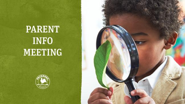 Parent Information Meeting Graphic