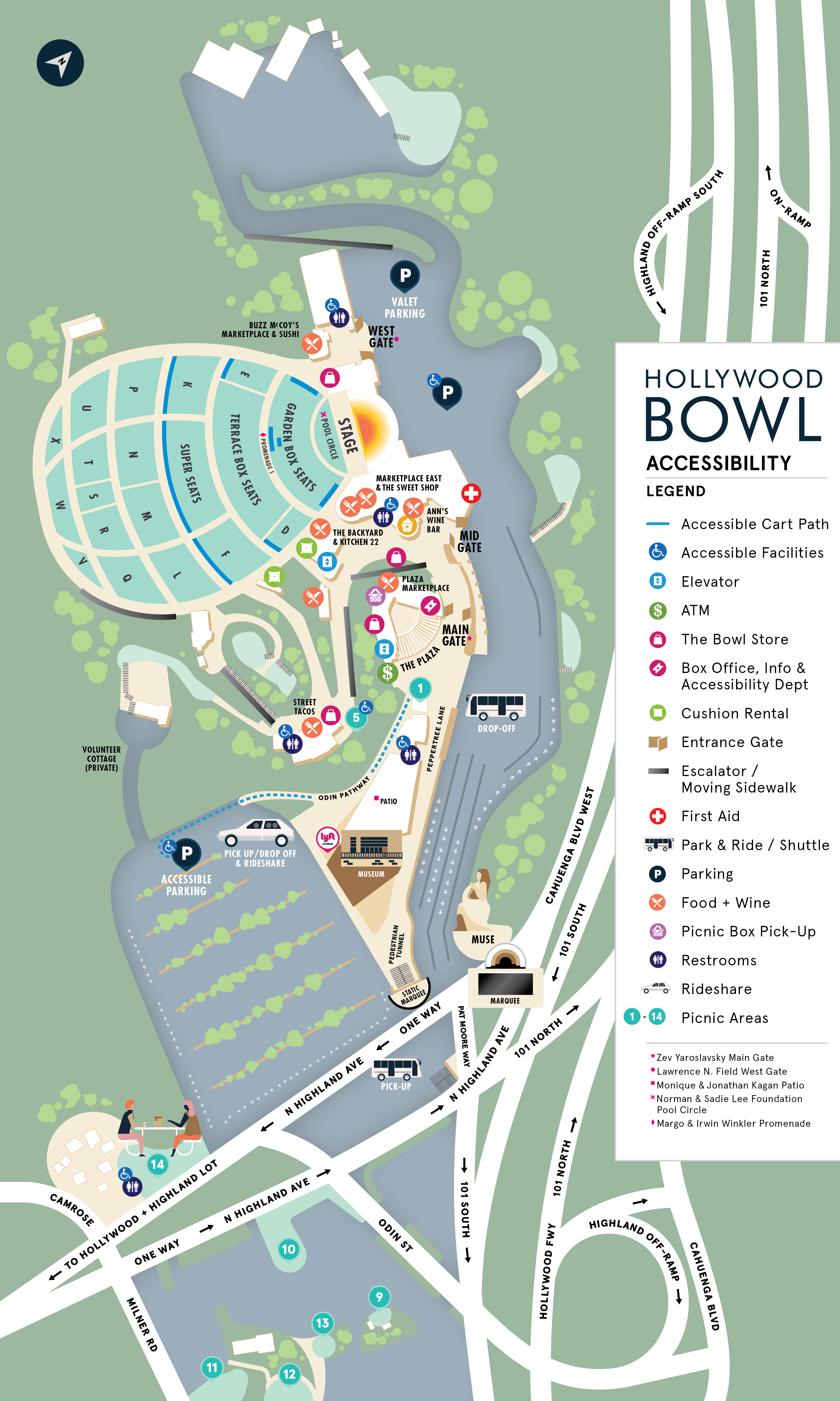 Bowl Accessibility Map Hollywood