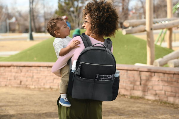 child with all access diaper bag backpack