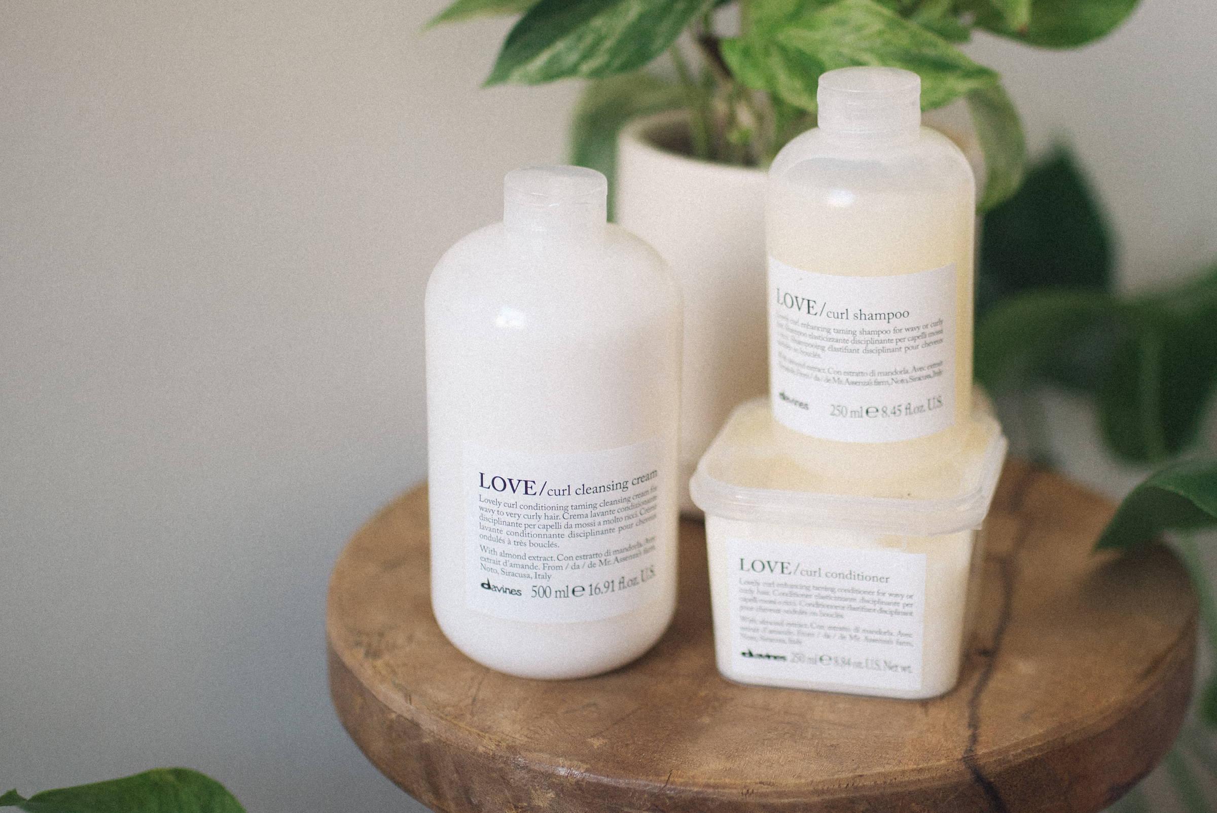 LOVE Curl hair care regimen