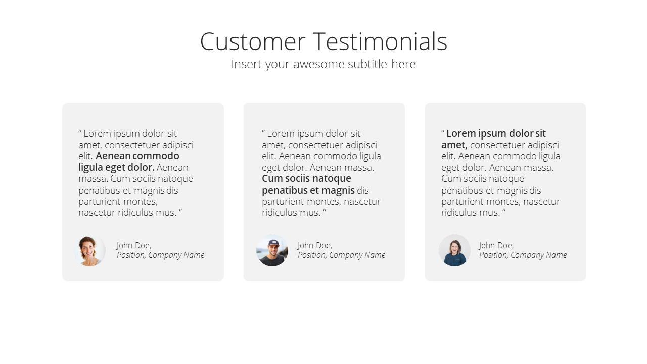 Modern X Project Proposal Presentation Template Client Testimonials