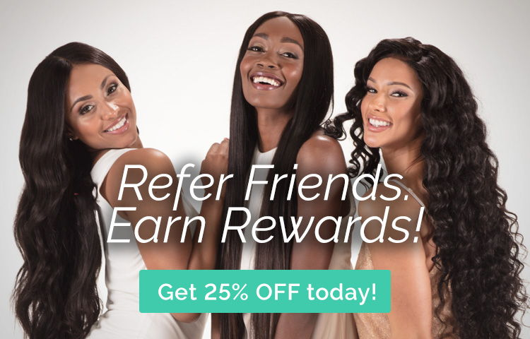 refer friends, earn rewards, get 25% off