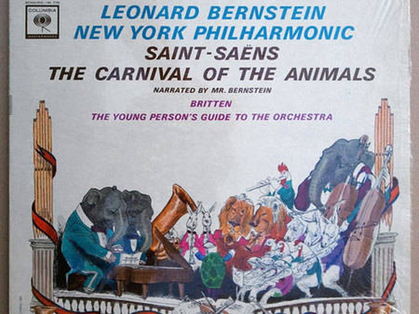 Columbia 2-eye/Bernstein/ Saint-Seans - The Carnival of the Animals,  Britten: The Young Person's Guide to the Orchestra