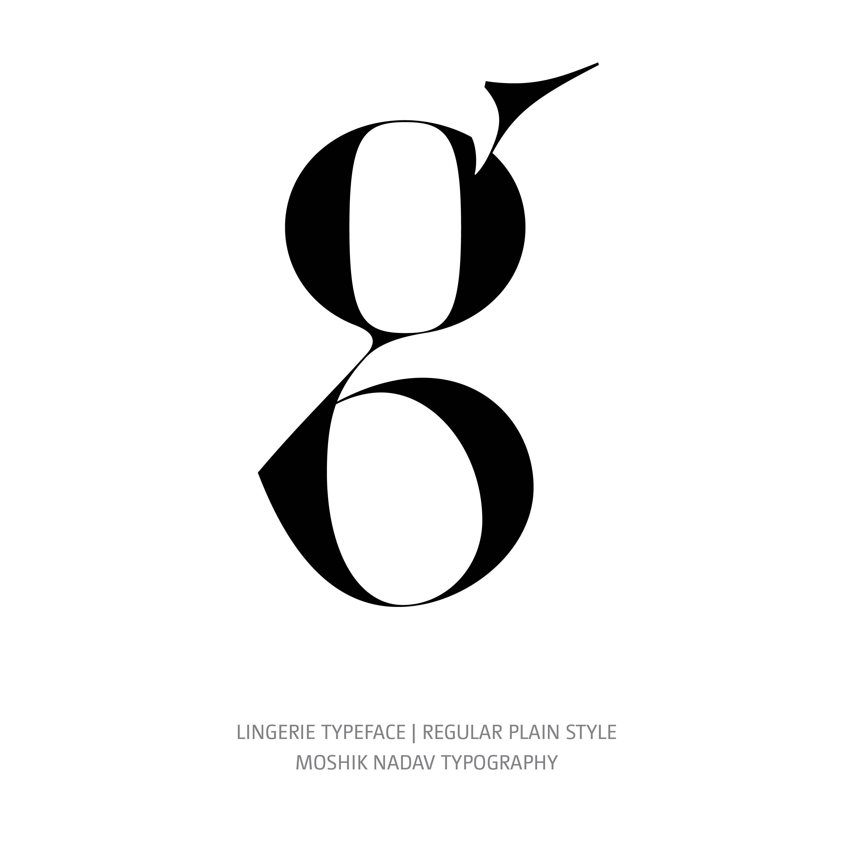 Lingerie Typeface Regular Plain g