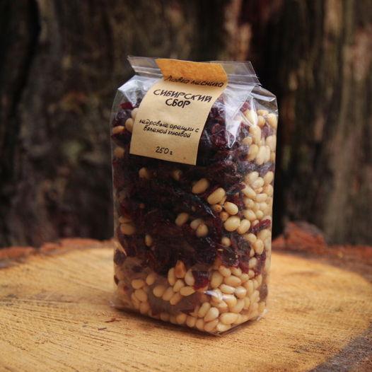 Сибирский сбор - кедровые орешки с вяленой клюквой