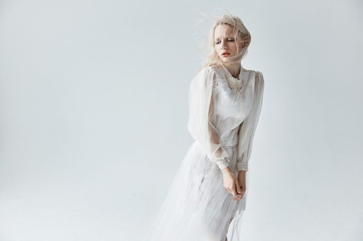 Блуза  Elizaveta Zhuravleva из хлопка, вуали и кружева.