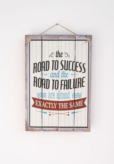 "Декоративная деревянная табличка ""the Road to Success"""