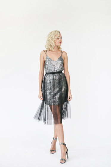 Комплект  из платья и юбки