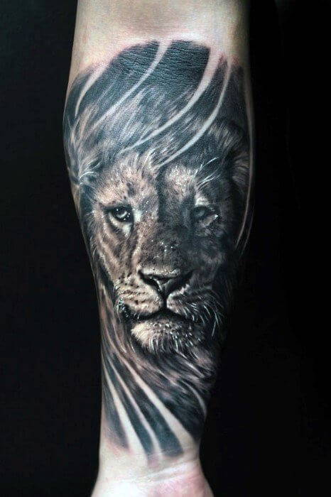 Tatouage Tete De Lion Mollet