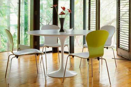 Best Sellers: Knoll Saarinen Dining Table in white