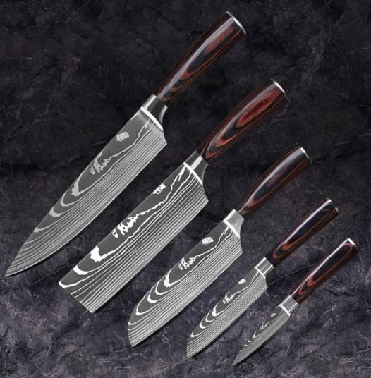 Professional Kitchen Knives, Best Kitchen Knife Set, Japanese Chef Knife Set, Damascus Knives,