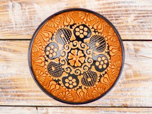 Маленькая керамическая пиала (янтарная)