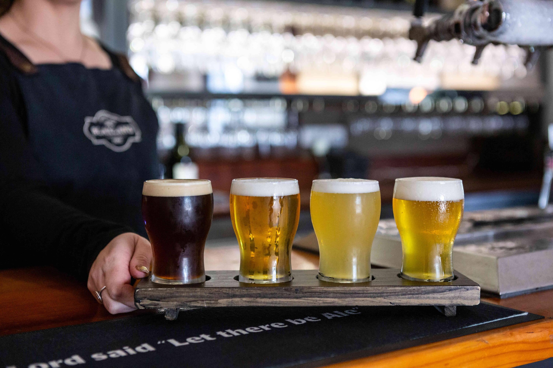 Serving Beer at Blaxland Inn Hunter Valley Winery