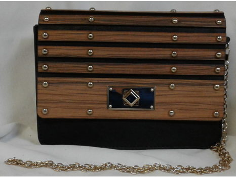 Crossbody with Wood Detail