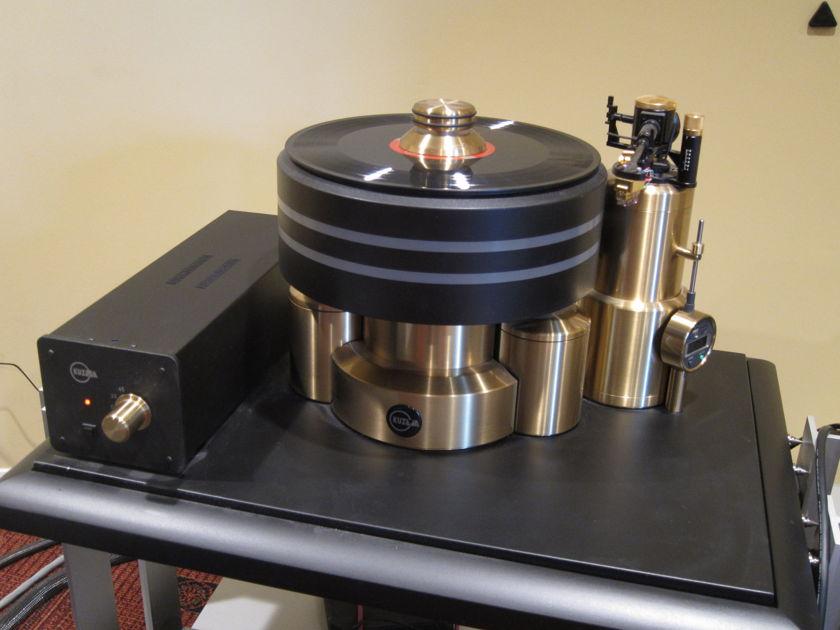 Kuzma Stabi XL Brass with VTA Tonearm Tower + Graham Phantom II Tonearm - Amazing Combo!!!