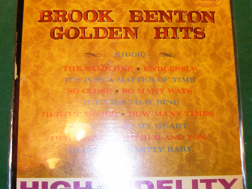 "BROOK BENTON ""GOLDEN HITS"" - 1961 STEREO MERCURY SR-60607 ***VERY GOOD 8/10***"