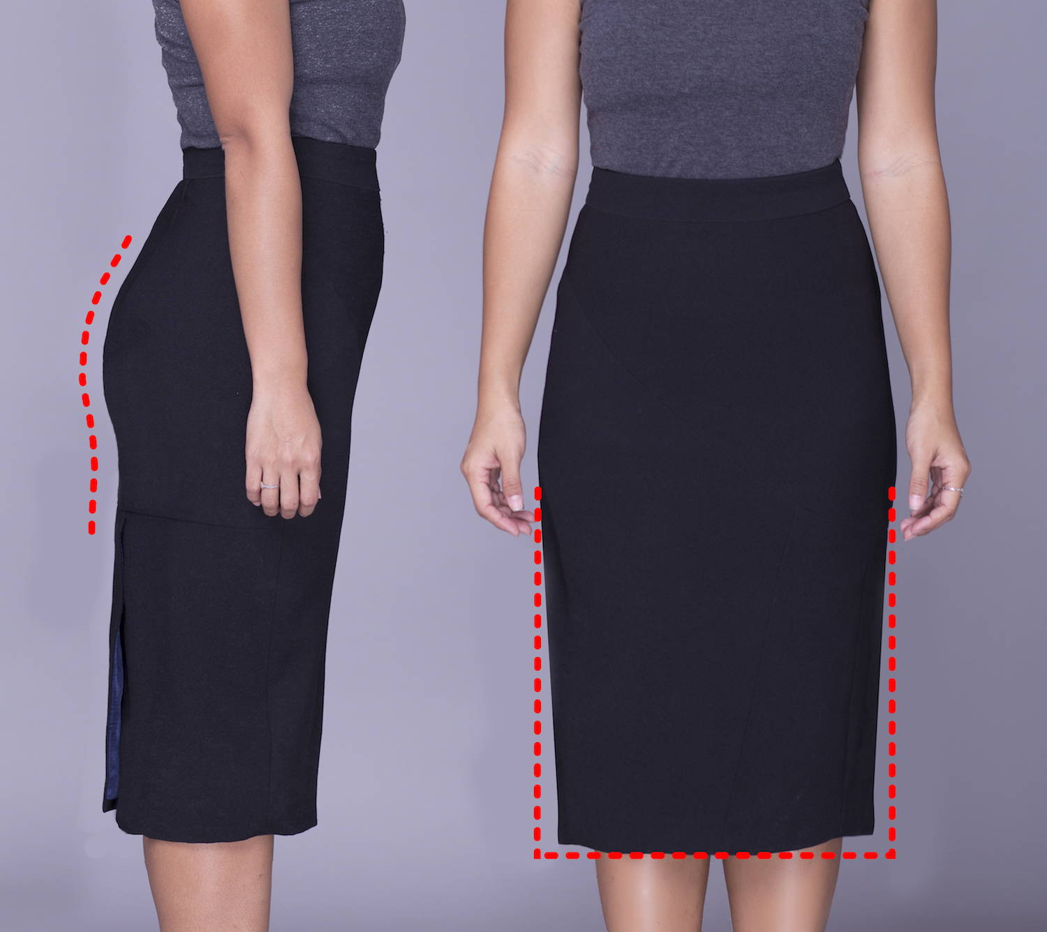 Rita Phil custom pencil skirts | Contoured fit