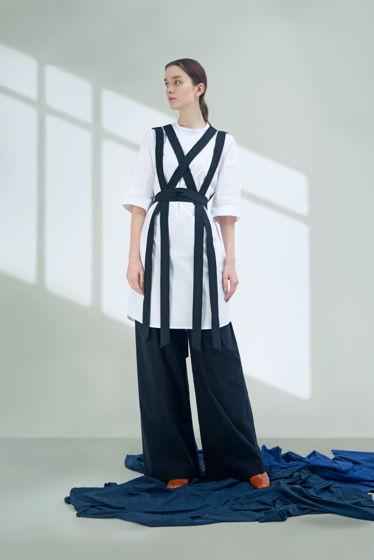 Рубашка-платье с поясками
