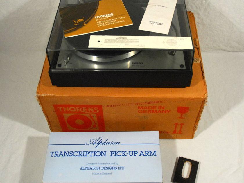 Thorens TD-160 Super Turntable + Alphason Xenon Toneram. An Excellent Combination. Rare.