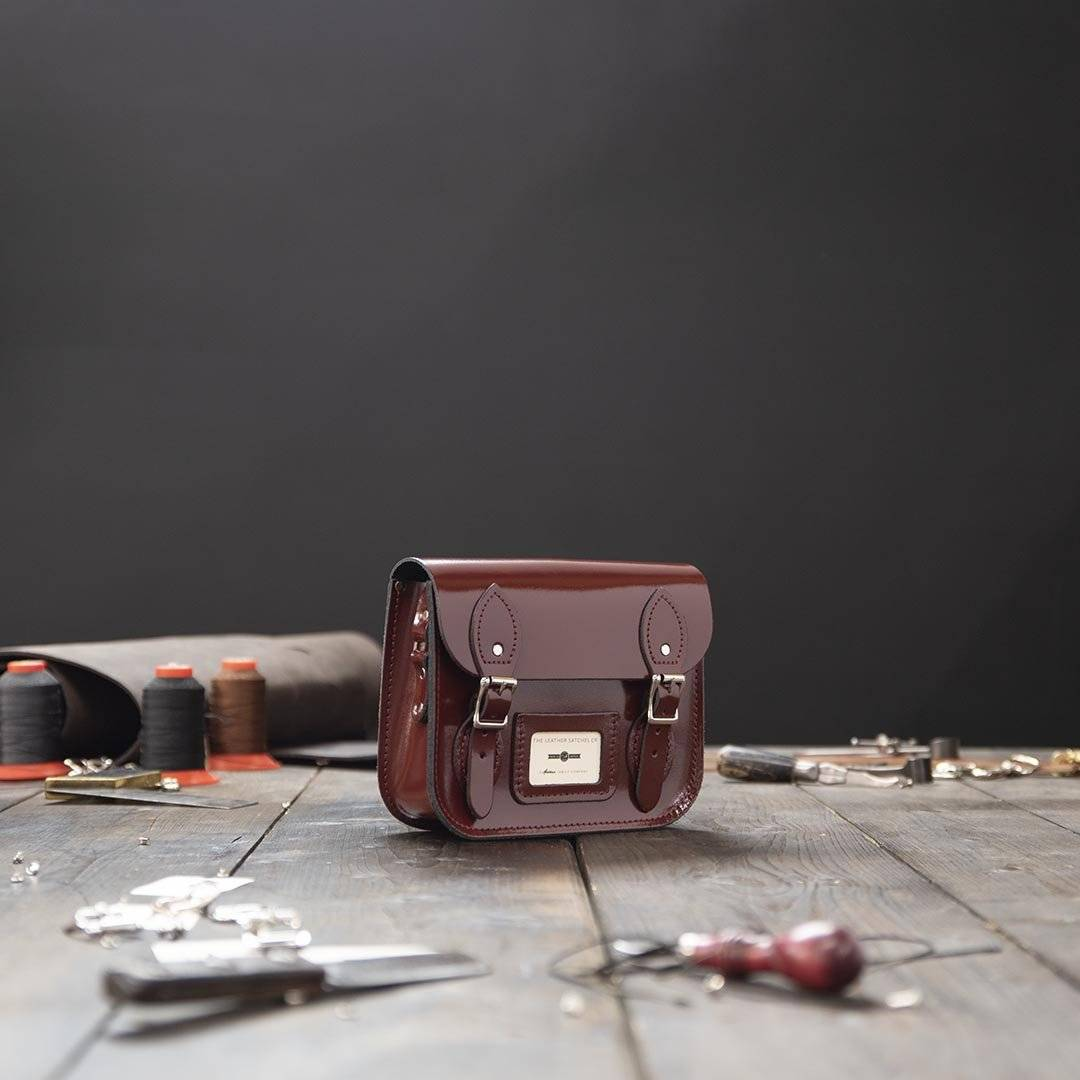Red Festival Leather Satchel