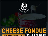 CHEESE FONDUE AND WINE  image