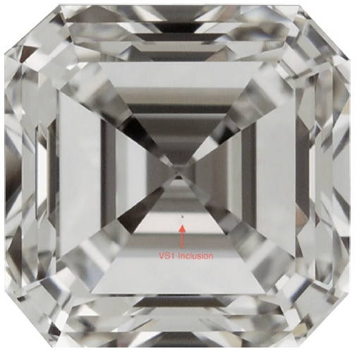 Very Slightly Included (1st Degree) – VS1 diamond clarity