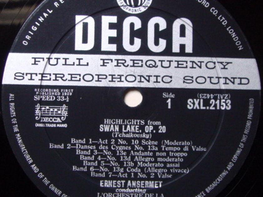 DECCA SXL-WB-ED1 / ANSERMET, - Tchaikovsky Swan Lake Highlights, VG+!
