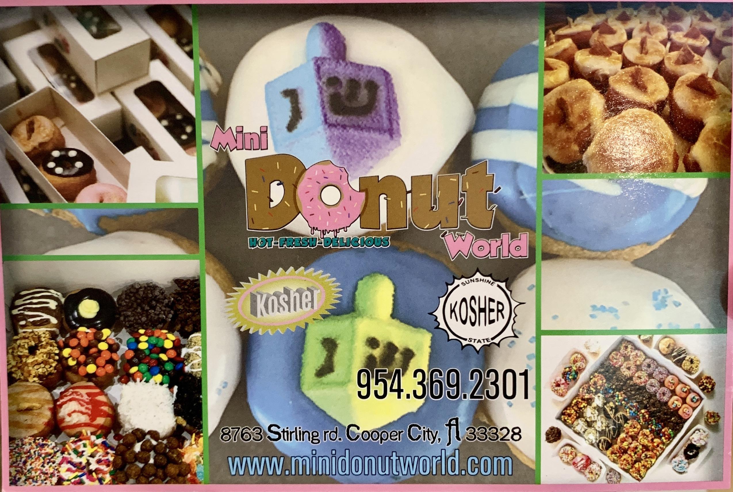 Mini Donut World Website Graphic