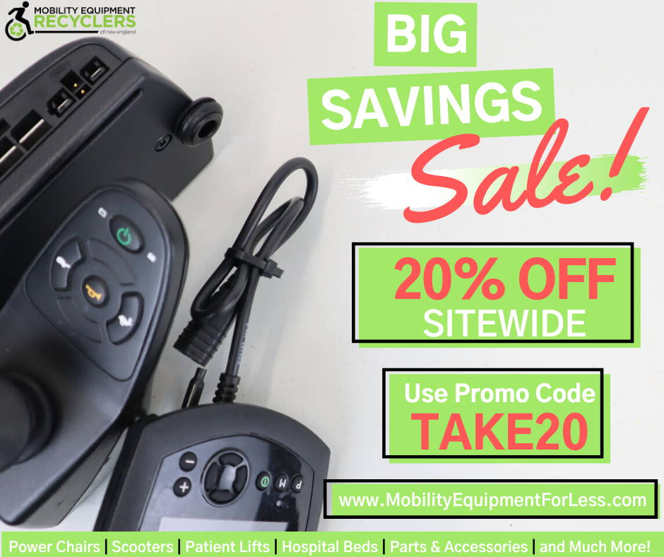 20% off all Electric Wheelchairs, Scooters, Patient Lifts, Hospital Beds Parts & Accessories and much more!