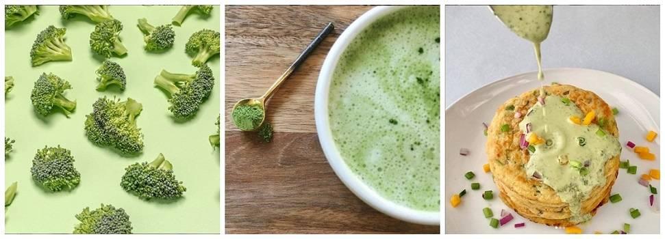 Broccoli gluten free flour