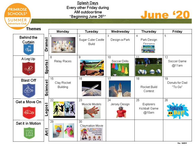 explorer june calendar