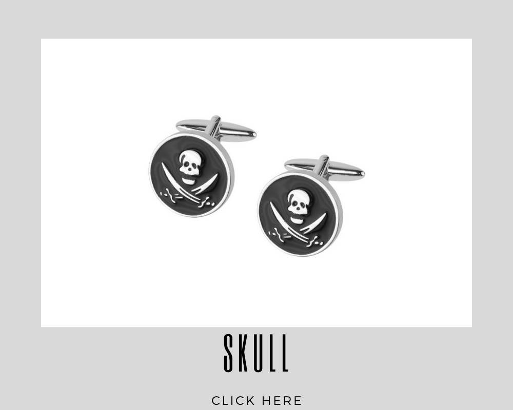 Corporate Custom Skull Cufflinks