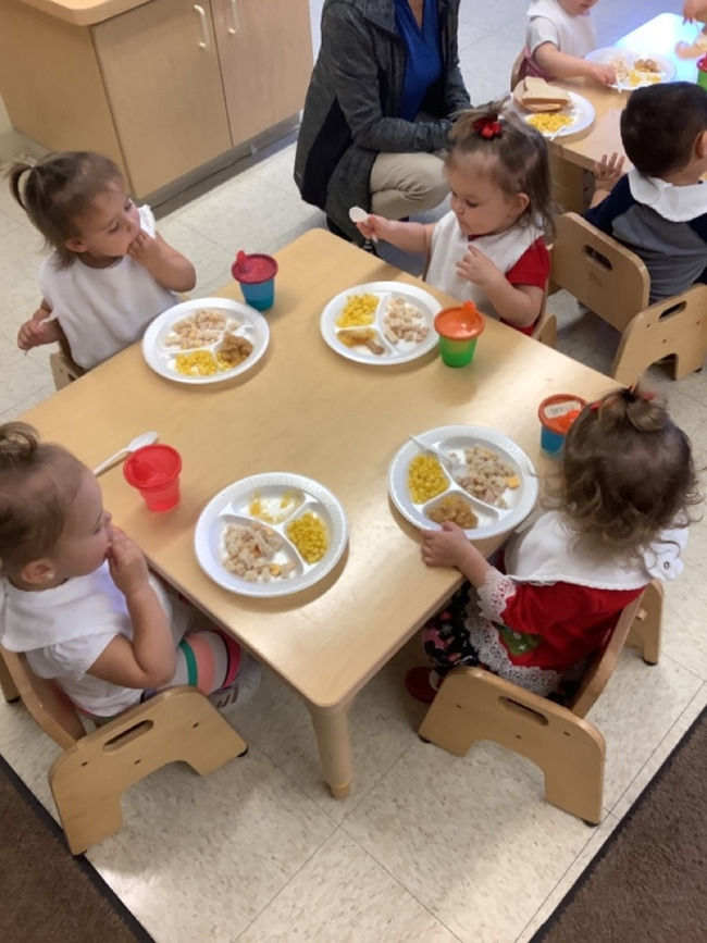 We provide delicious meals which include a morning snack, hot nutritious lunch, an afternoon snack, and a late night snack.