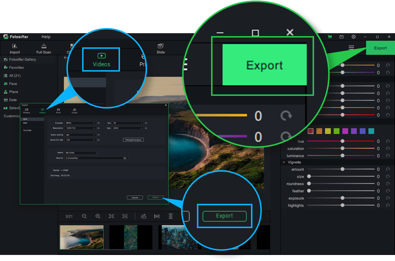 Export a slideshow video