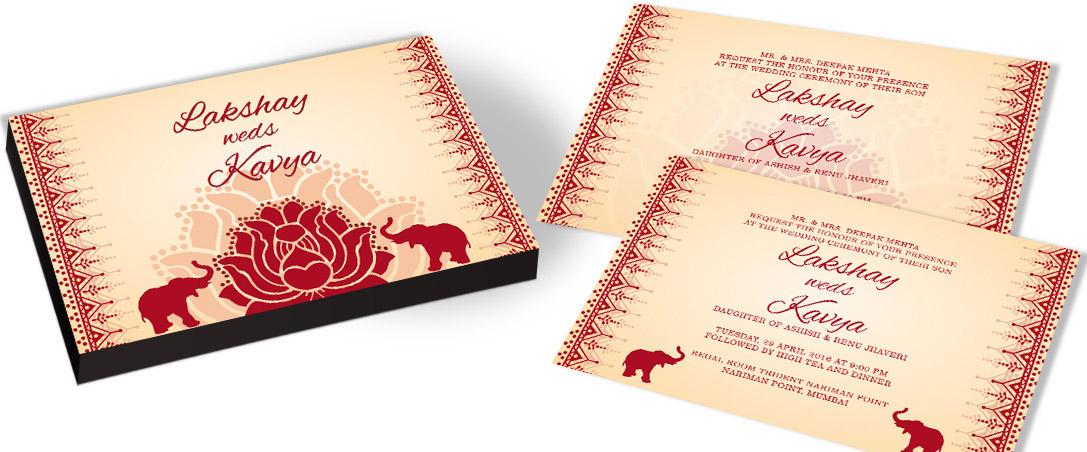 Beautiful Invitation card for Wedding