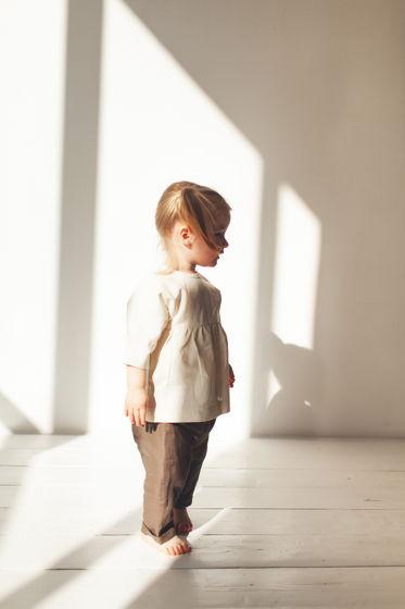 Детский льняной комплект OHH  (туника+штанишки)